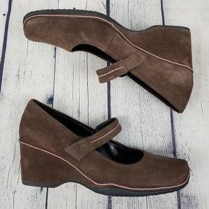 ROCKPORT | suede wedge heel shoe